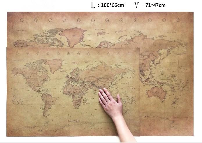 affiche carte du monde vintage style r tro les cartes du monde. Black Bedroom Furniture Sets. Home Design Ideas