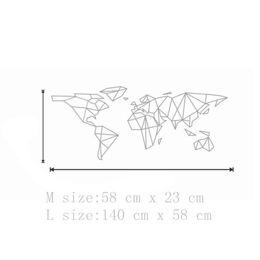 Carte Du Monde Origami.Sticker Vinyle Carte Du Monde Forme Geographique Les Cartes Du